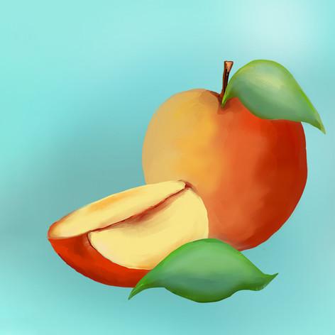 Omenan kuva etikettiin