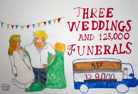 Three Weddings & 128000 Funerals