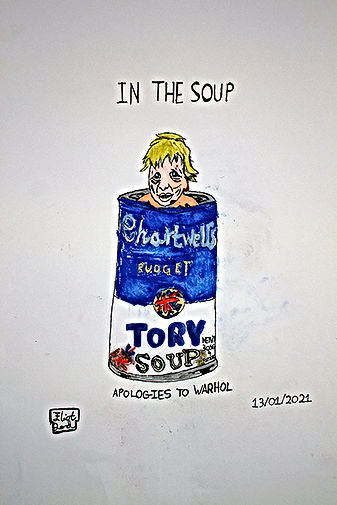 In The Soup- With Apologies to Warhol- Art By Eliot Lord