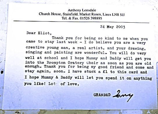 Letter from Granddad