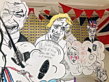 Brexit Shop Detail- A part of a work by Eliot Lord and Hend Ezat