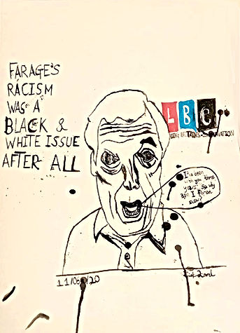 Farage the Fascist Thrown Out