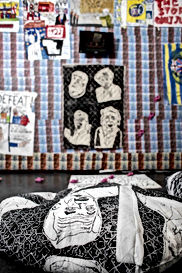 Detail of Politics at Home- A work by Eliot Lord