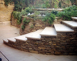 Natural stone walls are lovely, they add a fantastic rustic effect to your garden.