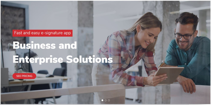 Electronic Signature Solution Website