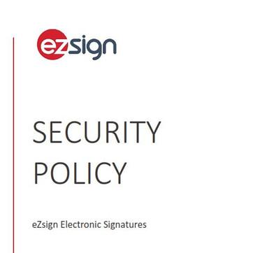 eZsign Security Policy