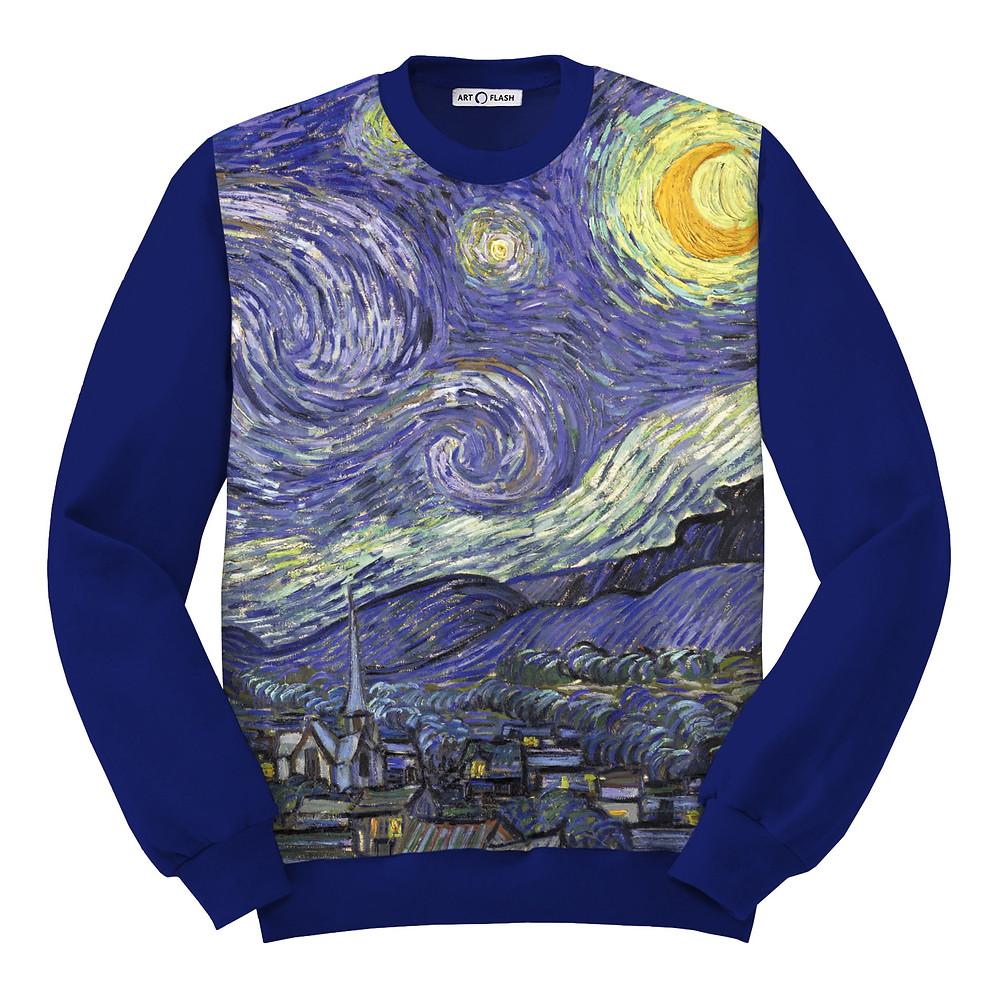 Свитшот «Звёздная ночь» Ван Гога
