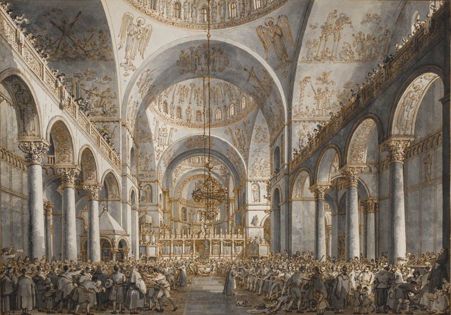 «Представление дожа в соборе Сан-Марко», Каналетто, 1787–1789