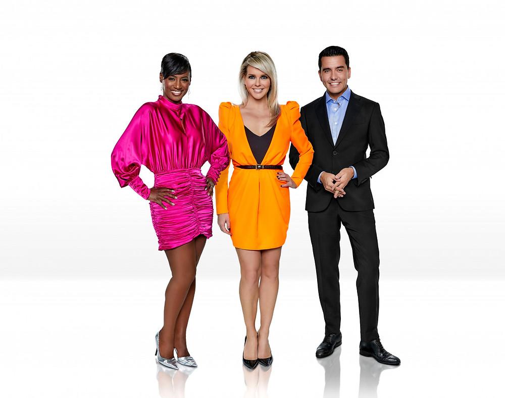 Ведущие шоу: Шанталь Янцен, Эдсилия Ромби и Ян Смит. Источник: Instagram @ Eurovision
