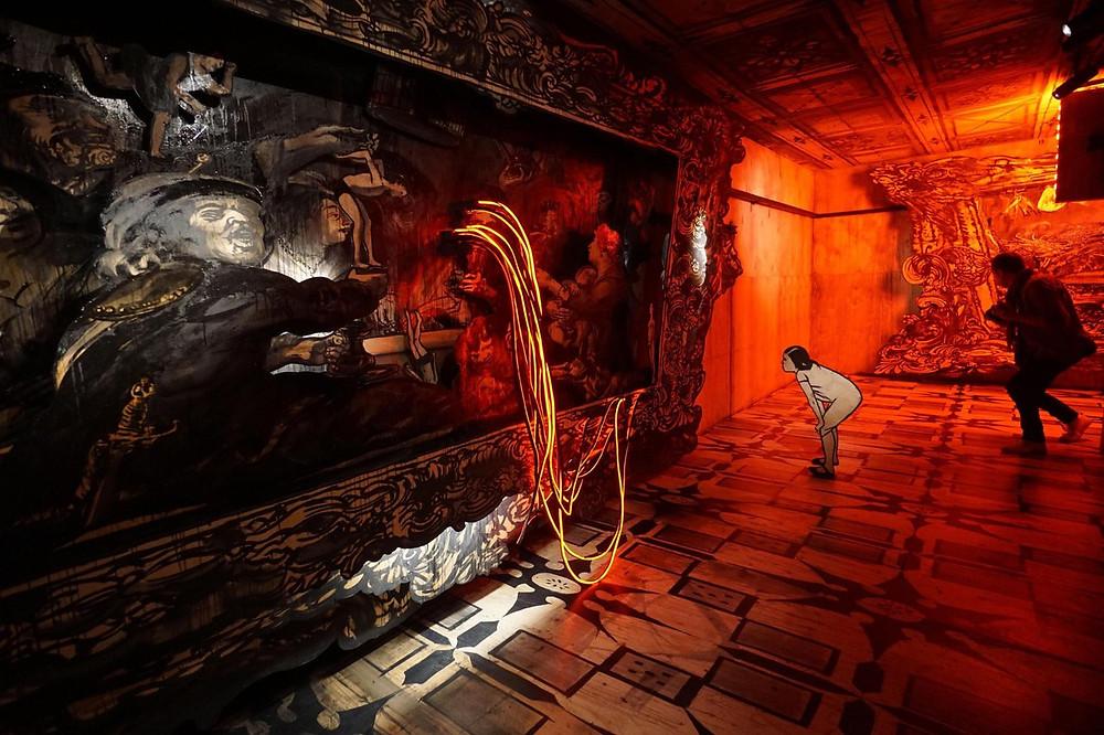 Фрагмент инсталляции Александра Шишкина-Хокусая «Фламандская школа»