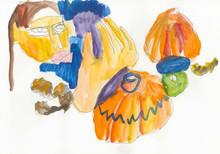 Художники создали натюрморты из овощей и фруктов для онлайн-галереи Sample и Даниловского рынка