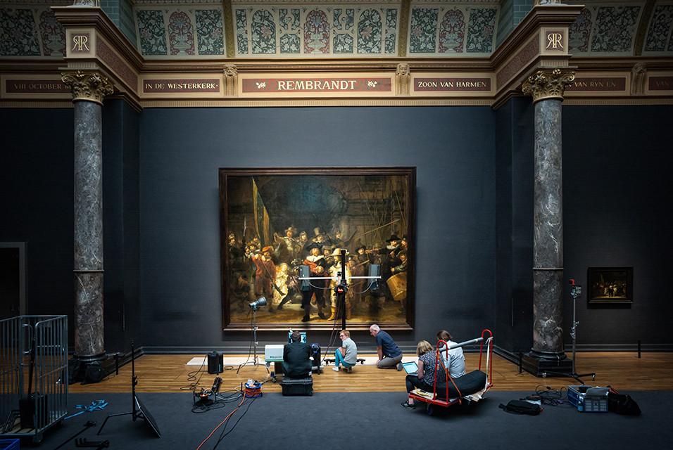Художественный музей Рейксмюсеум в Амстердаме, реставрация картины «Ночной дозор» Рембрандта