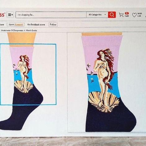 Новая выставка Карины Барабановой «Магазин культуры» в галерее Cube.Moscow