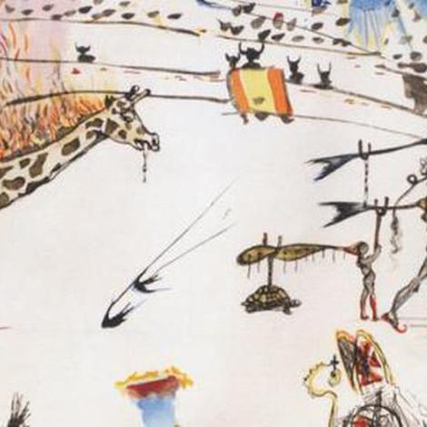 «Горящий жираф» Сальвадора Дали исчез из галереи за полминуты