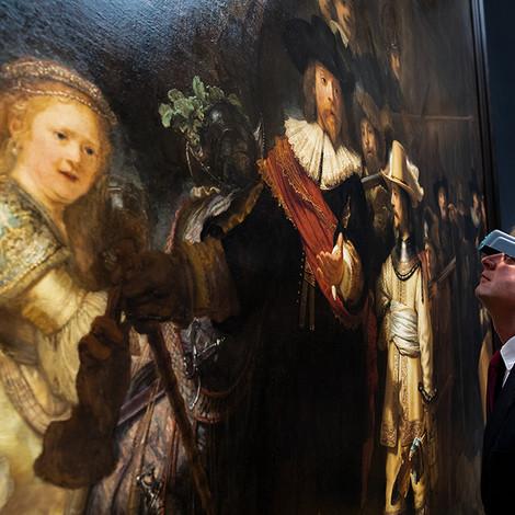 За масштабной реставрацией картины Рембрандта можно будет наблюдать онлайн