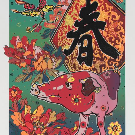 """Выставка графических работ художников Тайваня """"Восточный календарь"""" в Музее Востока"""