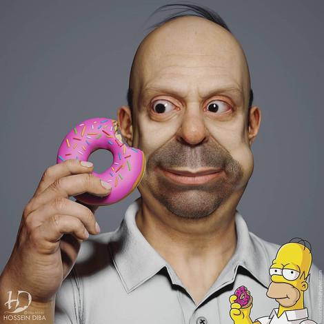 Турецкий художник превратил персонажей из «Симпсонов» в реальных людей