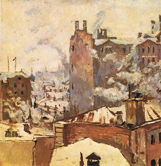 «Зимний пейзаж. Московский переулок» (1926, Константин Истомин)