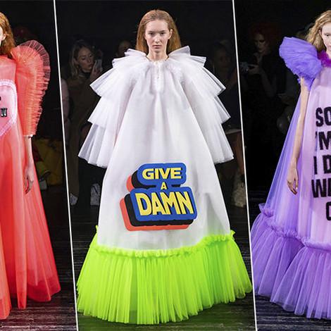Кутюр в эпоху мемов: показ Viktor & Rolf Couture Spring Summer 2019