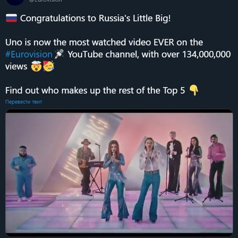 Клип Little Big установил новый рекорд «Евровидения»
