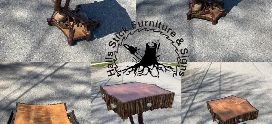 Adirondack side table
