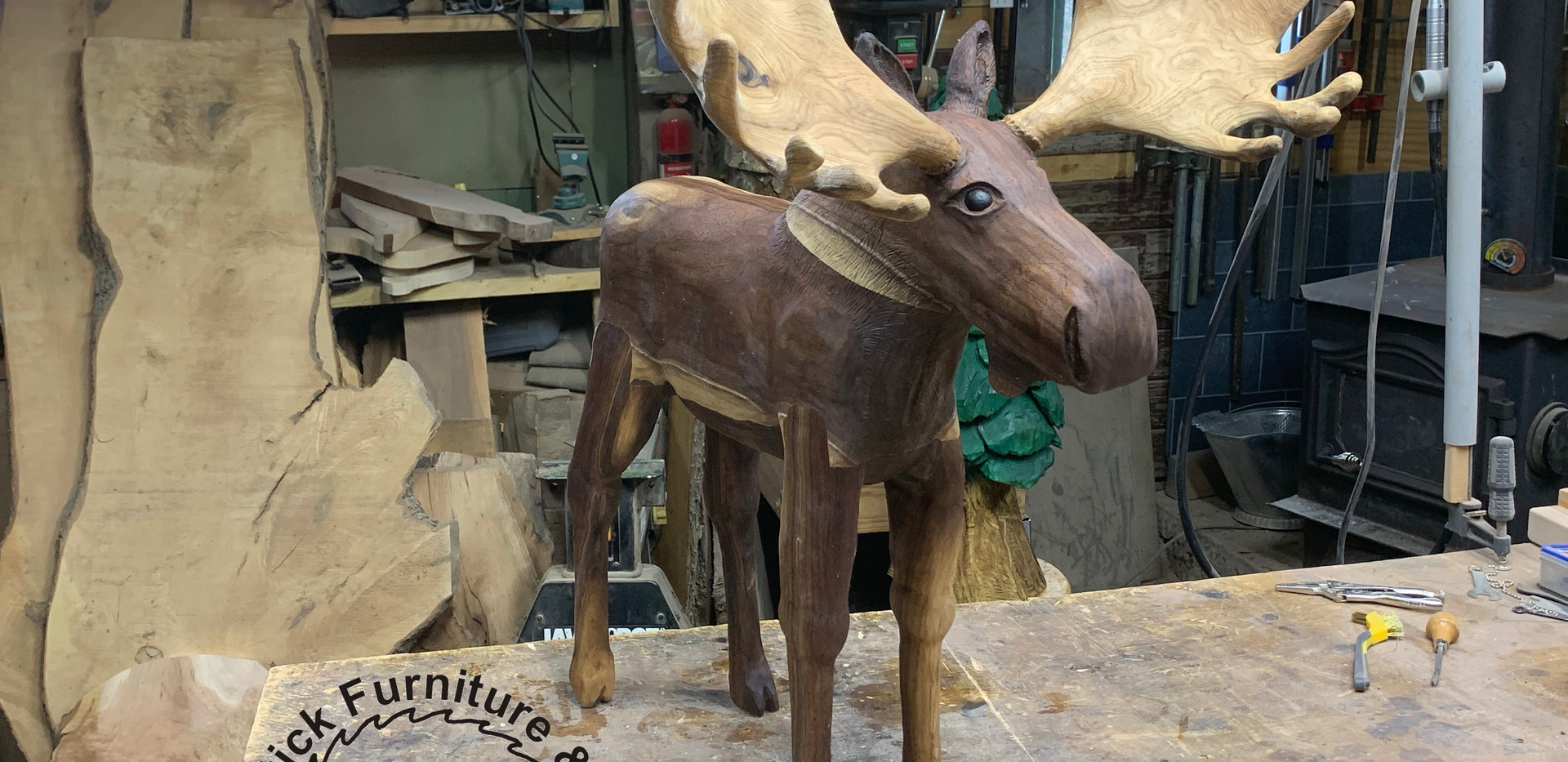 Black walnut moose