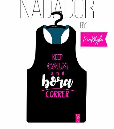 Camiseta Regata Nadador Preta