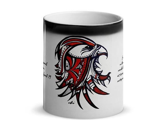 Birth Animal- Falcon- Mar 21 - Apr 19 -Glossy Magic Mug- International ONLY