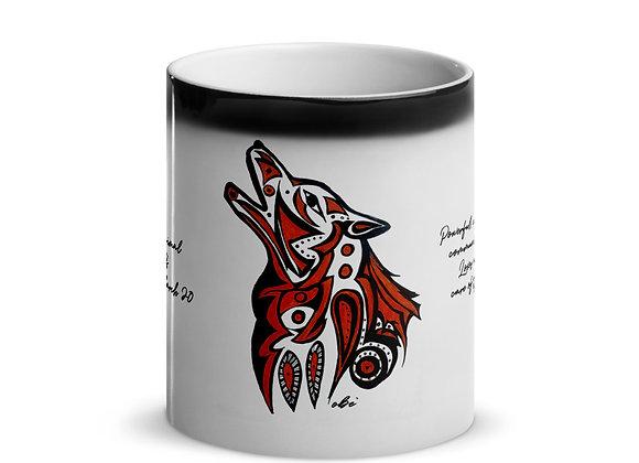 Birth Animal- Wolf- Feb 19 - Mar 20 -Glossy Magic Mug- International ONLY