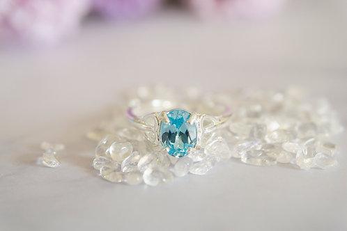 The Center Aquamarine Ring