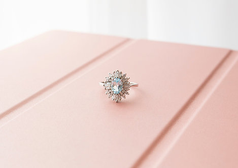 The Lady Aquamarine Rings