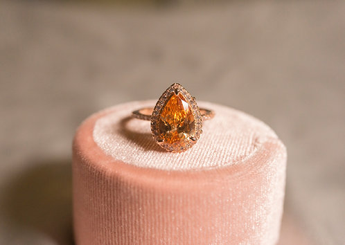 The Stunning Pear Rings