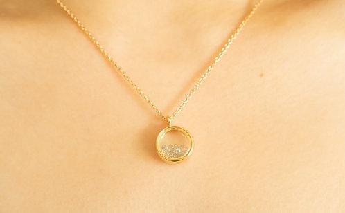 Aquamarine Gravel Necklace