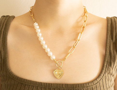 The Clear Heart Necklaces