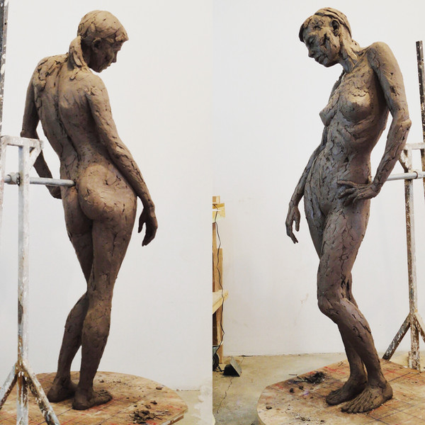 'One Day Sketch' lifesize figure