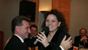 Raffaella bei EU-Ratspräsident Günther Oettinger im Hotel Steigenberger Hof