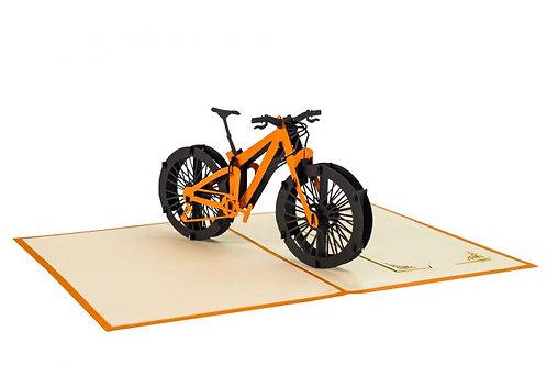 3D Pop-Up Karte, Mountainbike
