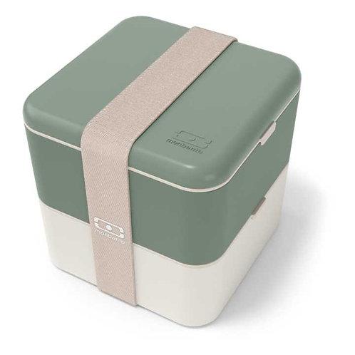 MB Square Bento-Box, Natur-Grün - Made in France
