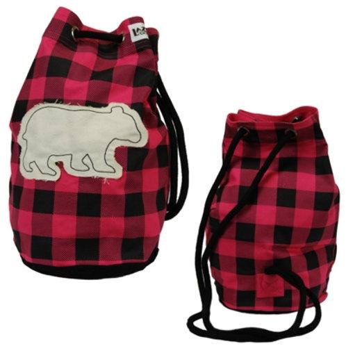 Bear Plaid Tasche