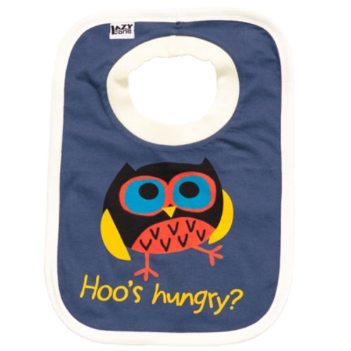 Hoo's Hungry Lätzchen, blau