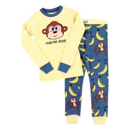 Monkeying Around Langarm Pyjama Kind