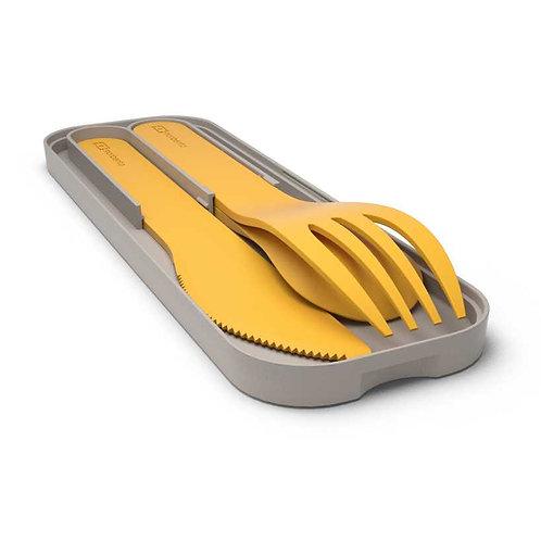 Besteck Kunststoff, Senf-Gelb