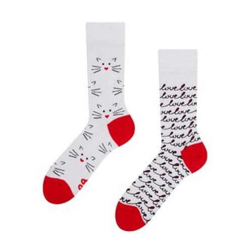Cat Love Gute Laune Socken, Erwachsene