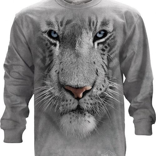 LANGARM-SHIRT - Weisser Tiger