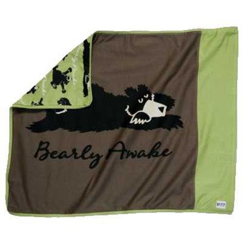 Bearly Awake Kopfkissenüberzug, braun/grün