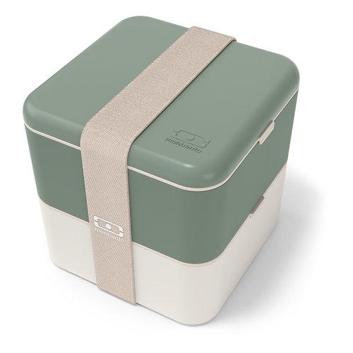 MB Square Bento-Box, Natur-Grün