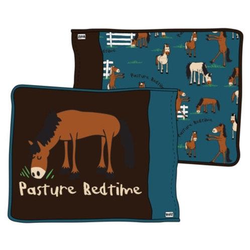 Pasture Bedtime Kopfkissenüberzug, braun/blau