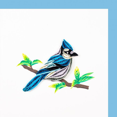 Paper Quilling Karte, klein, Vogel