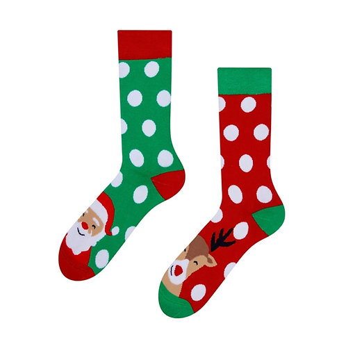 Santa & Rudoph Gute Laune Socken, Erwachsene