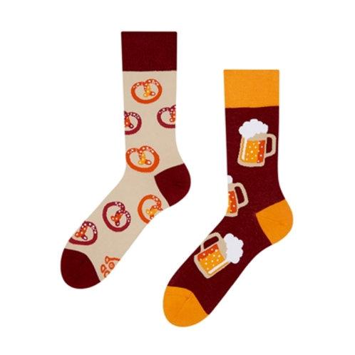 Bier und Bretzel Gute Laune Socken, Erwachsene